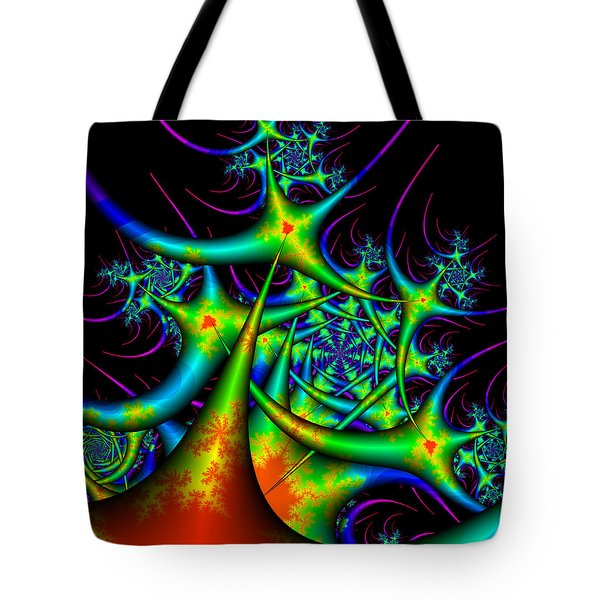 Tote Bag featuring the digital art Dactimorse by Andrew Kotlinski