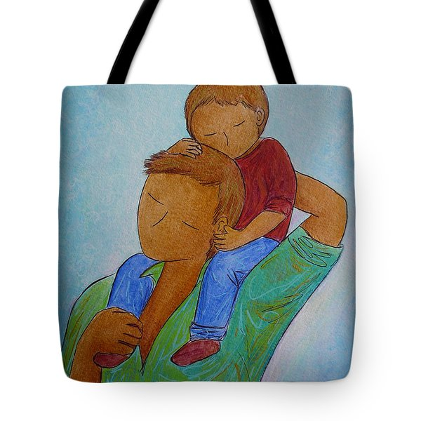 Daddy And Me Tote Bag by Gioia Albano