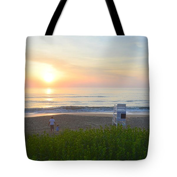 Tote Bag featuring the photograph Daddy Daughter Time by Barbara Ann Bell