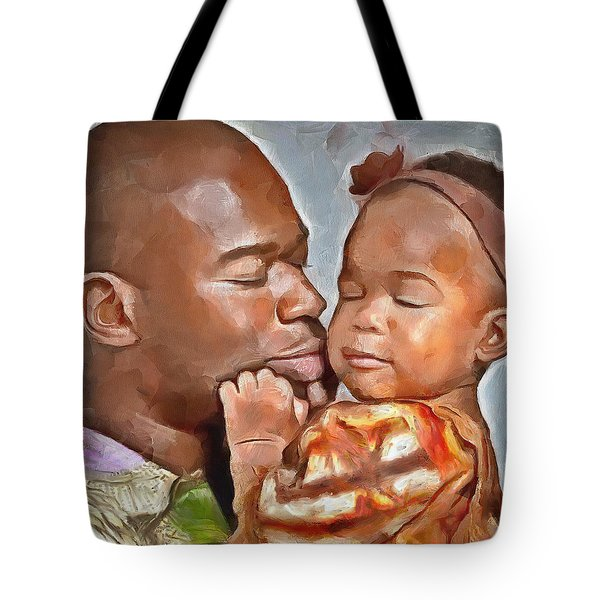Daddy's Girl Tote Bag by Wayne Pascall