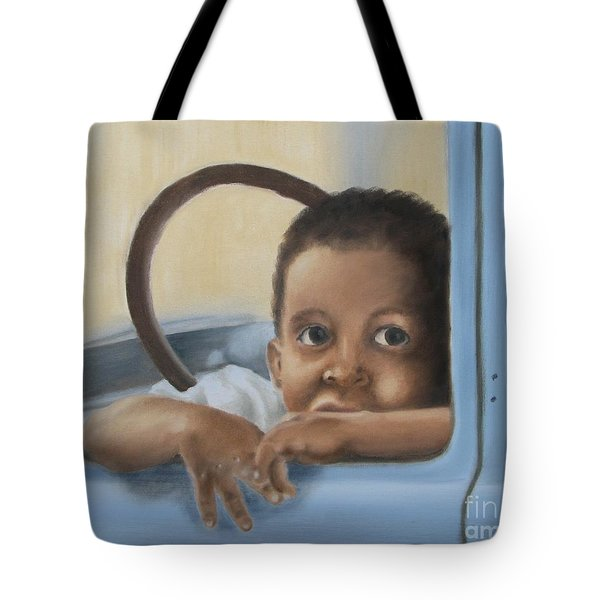 Tote Bag featuring the painting Daddy's Truck by Annemeet Hasidi- van der Leij