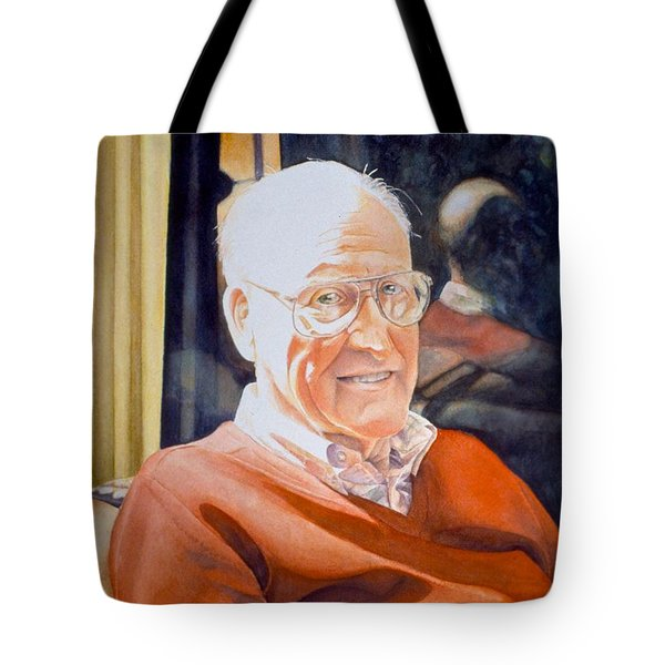 Dad's Red Sweater Tote Bag