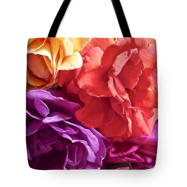 Dad's Roses Tote Bag by Gwyn Newcombe