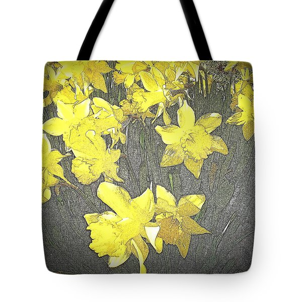 Daffodil 2-pencil Etch Tote Bag