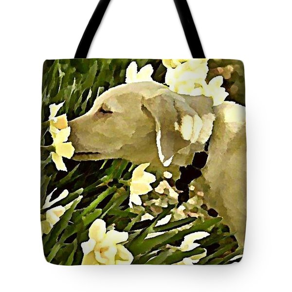 Daffodil Dog Tote Bag