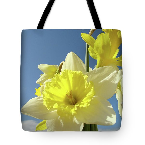Daffodil Flowers Artwork Floral Photography Spring Flower Art Prints Tote Bag by Baslee Troutman
