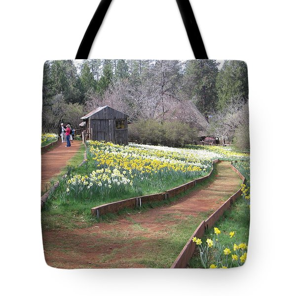 Daffodil Hill Pathway Tote Bag