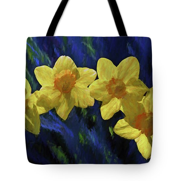Daffodil Quartet Tote Bag
