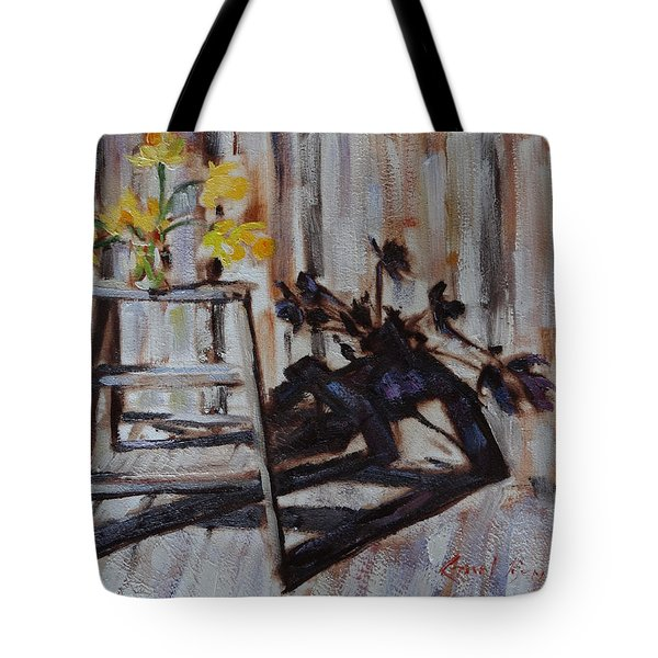 Daffodil Shadows Tote Bag
