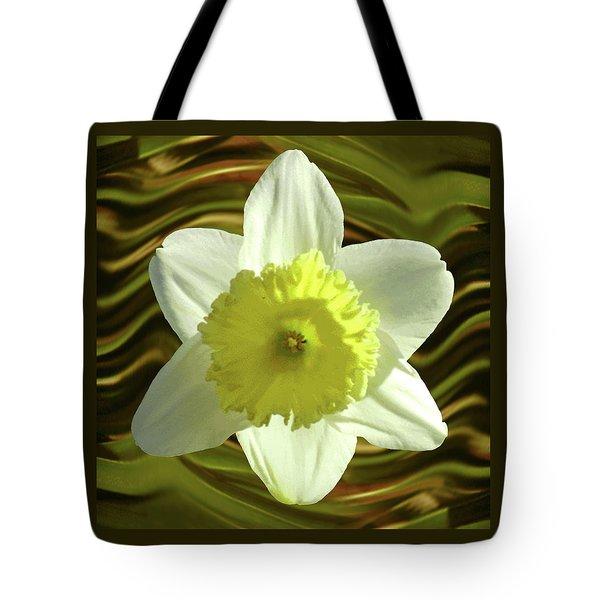 Daffodil Swirl Tote Bag