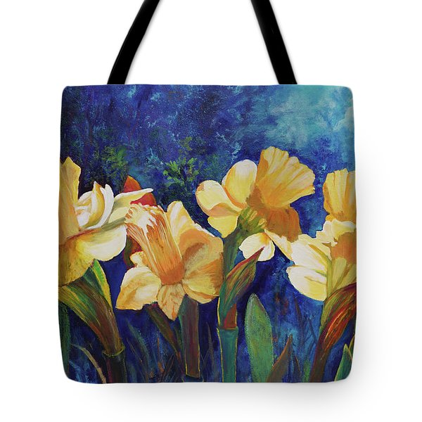 Daffodils Tote Bag by Alika Kumar