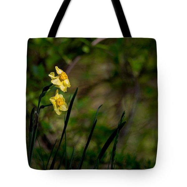 Daffodils Among The Green Tote Bag