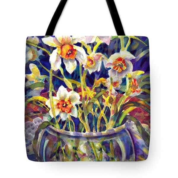 Daffodils And Lace Tote Bag