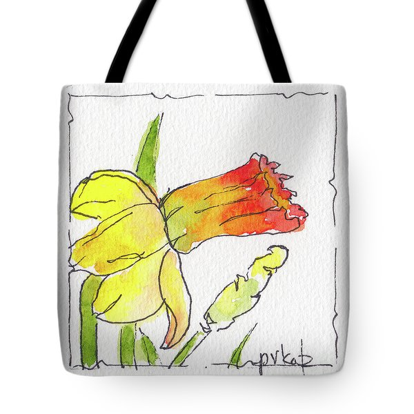 Daffodils In January Tote Bag by Pat Katz