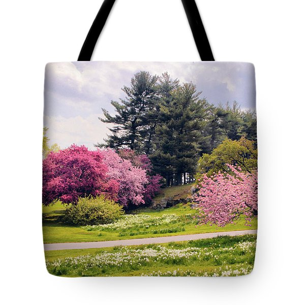 Tote Bag featuring the photograph Daffodils On A Hill by Jessica Jenney