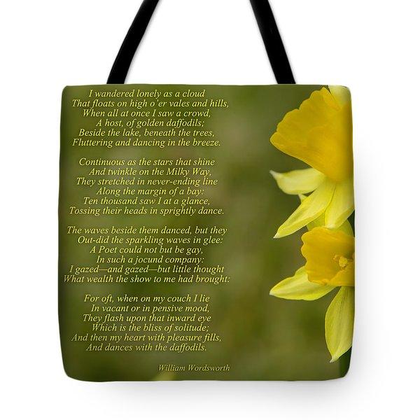Daffodils Poem By William Wordsworth Tote Bag
