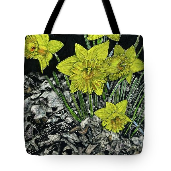 Daffodils Tote Bag by Robert Goudreau