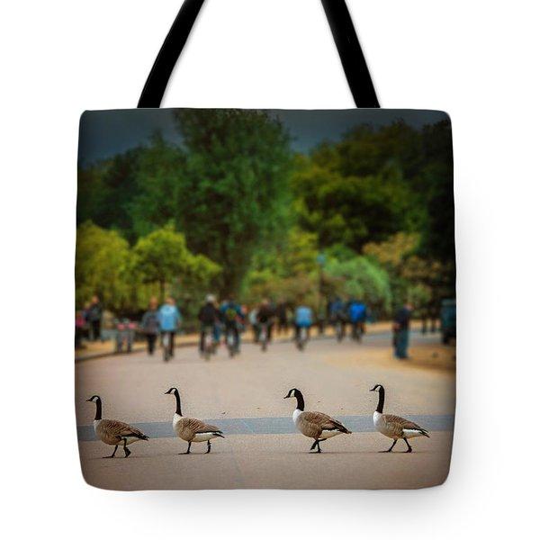 Daffy Road Tote Bag
