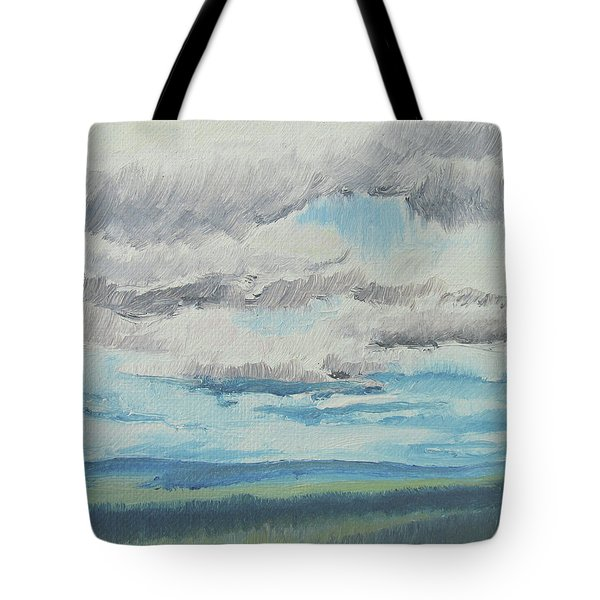 Dagrar Over Salenfjallen- Shifting Daylight Over Distant Horizon 8 Of 10_0029 Tote Bag