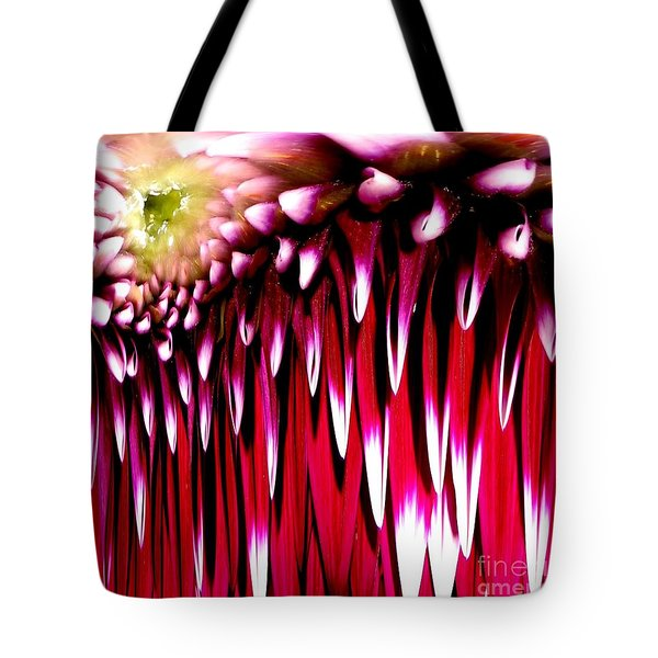 Dahlia Abstract Tote Bag by Rose Santuci-Sofranko
