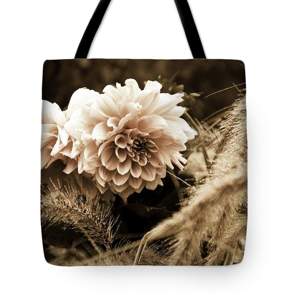Dahlia After A Shower Tote Bag