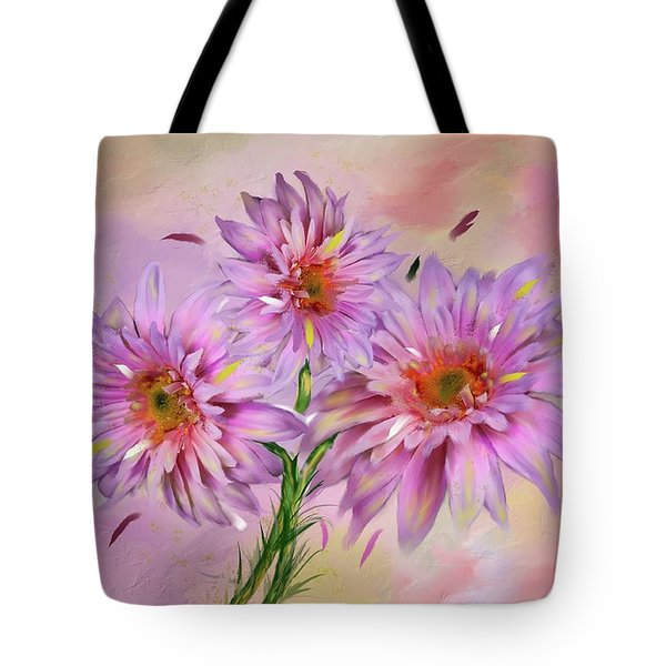 Dahlia Bouquet Tote Bag by Mary Timman