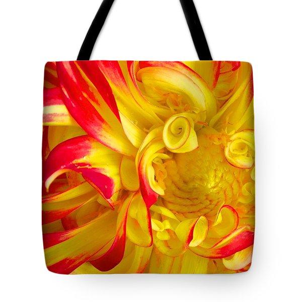 Dahlia Curls Tote Bag