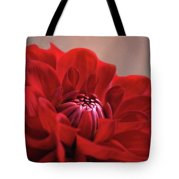 Tote Bag featuring the photograph Dahlia Dalliance  by Marion Cullen