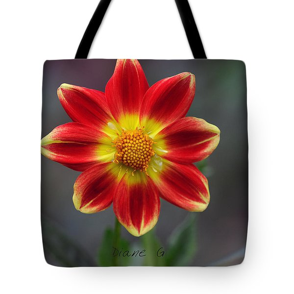 Dahlia Tote Bag by Diane Giurco