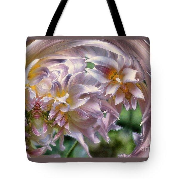 Dahlia Ecstasy Tote Bag