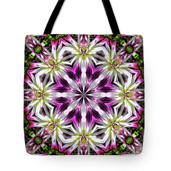 Dahlia Flower Circle Tote Bag