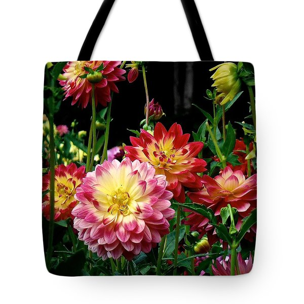 Dahlia Garden Time  Tote Bag
