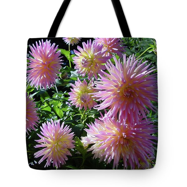 Dahlia Group Tote Bag by Shirley Heyn