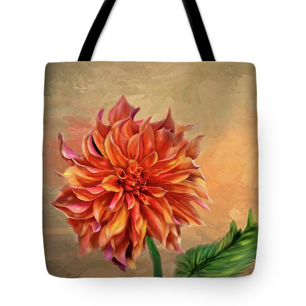 Dahlia In The Fall Tote Bag