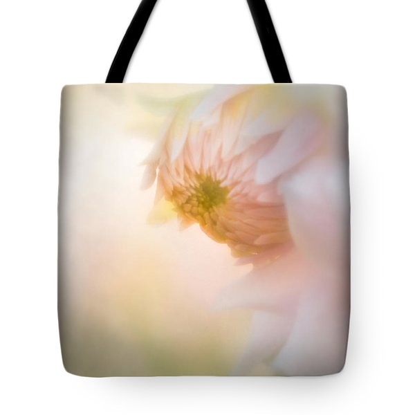 Dahlia In The Soft Morning Mist Tote Bag