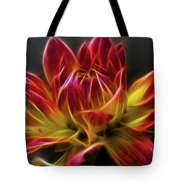 Dahlia Tote Bag by Joann Copeland-Paul