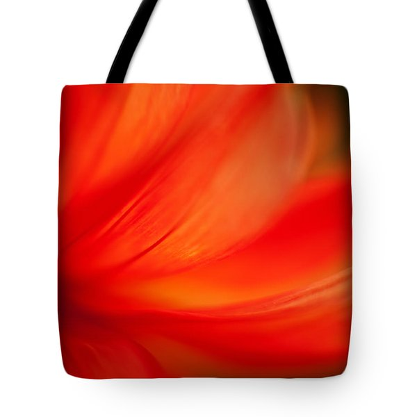 Dahlia On Fire Tote Bag by Mike Reid