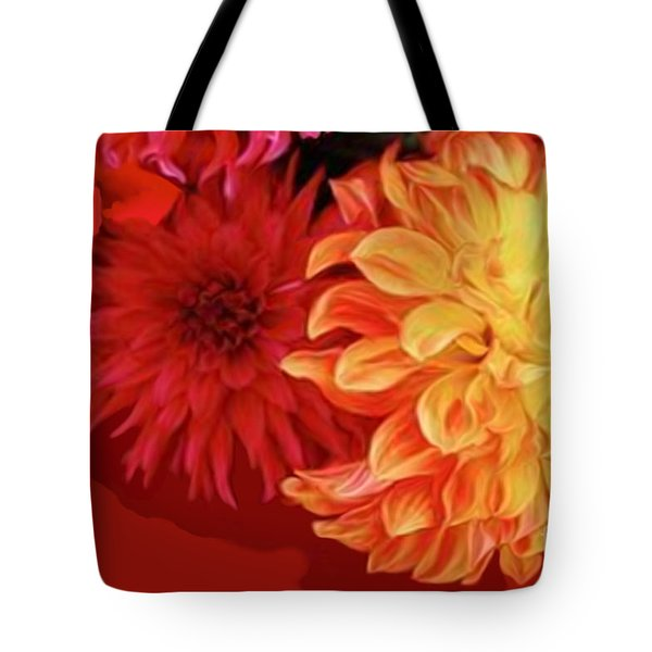 Dahlias Tote Bag by Corey Ford