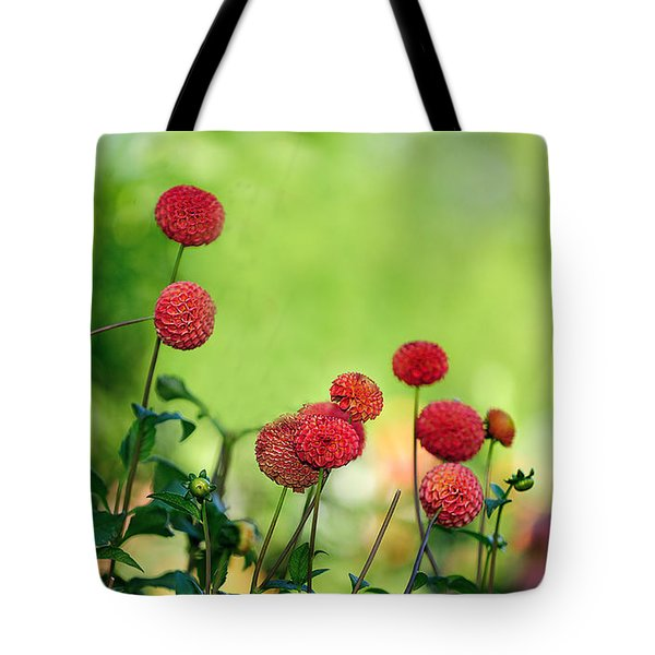 Dahlias Tote Bag by Diane Giurco