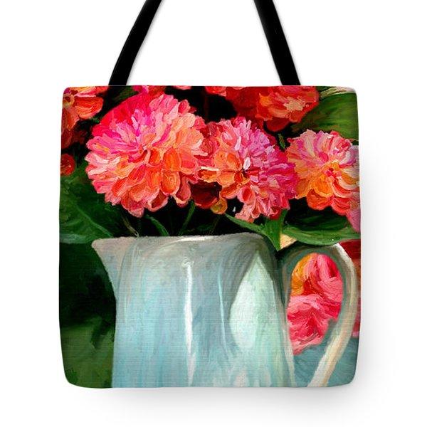 Dahlias Tote Bag by James Shepherd