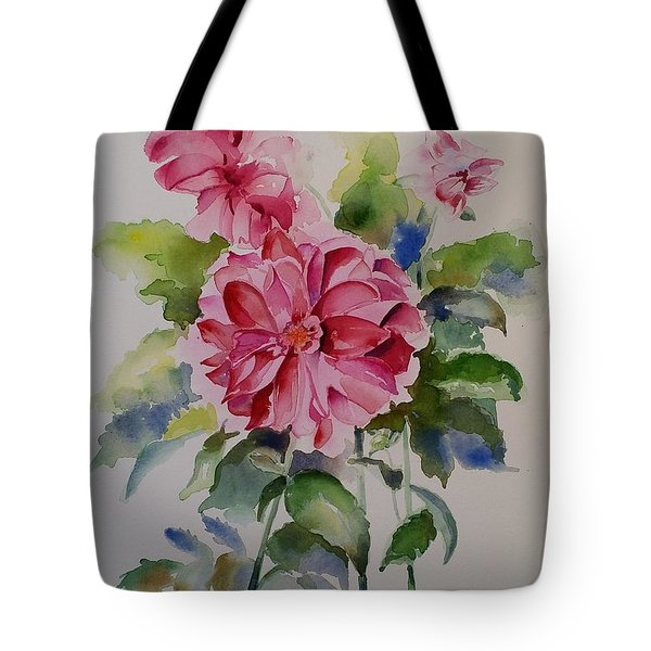 Dahlias Still Life Flowers Tote Bag
