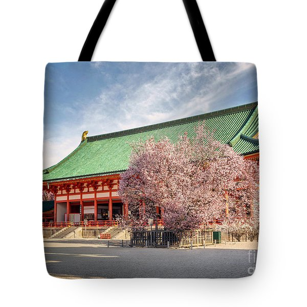 Daigukuden Main Hall Of Heian Jingu Shrine Tote Bag