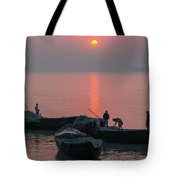 Daily Chores On The River Tote Bag
