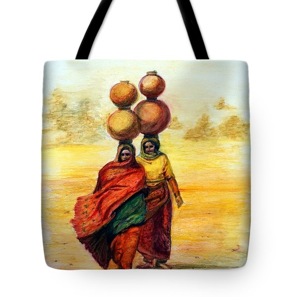 Daily Desert Dance Tote Bag by Alika Kumar