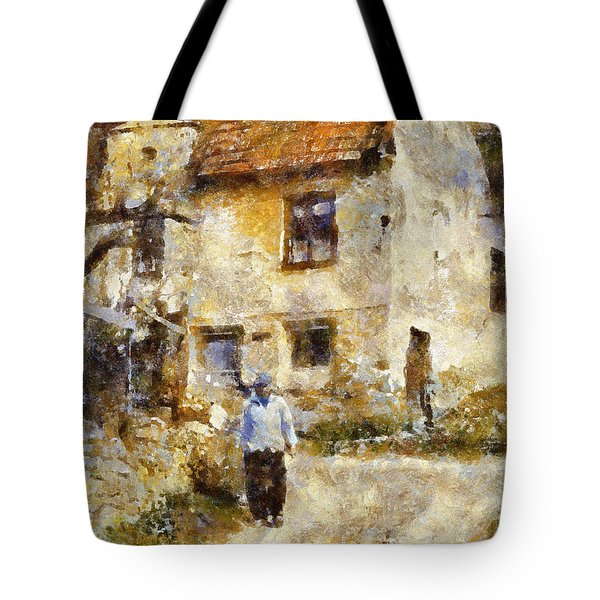 Daily Walk Tote Bag by Shirley Stalter