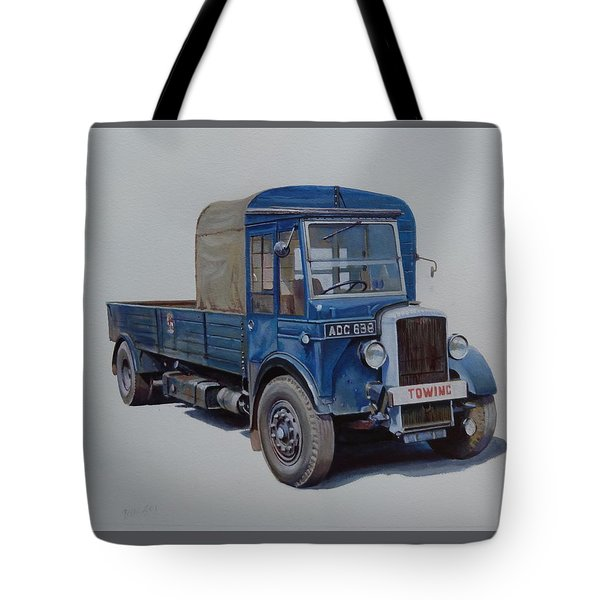 Tote Bag featuring the painting Daimler Wrecker Btc by Mike Jeffries