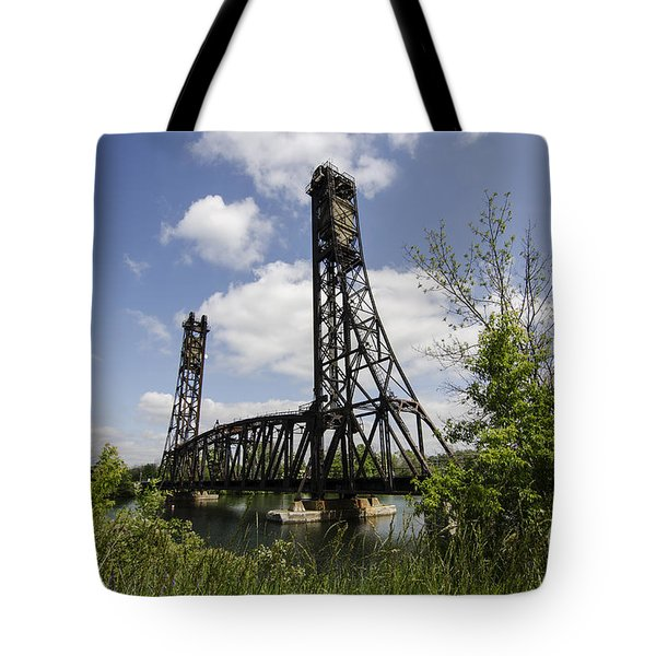 Dain City Railroad Bridge Tote Bag