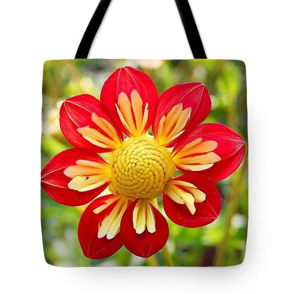 Dainty Dahlia Tote Bag