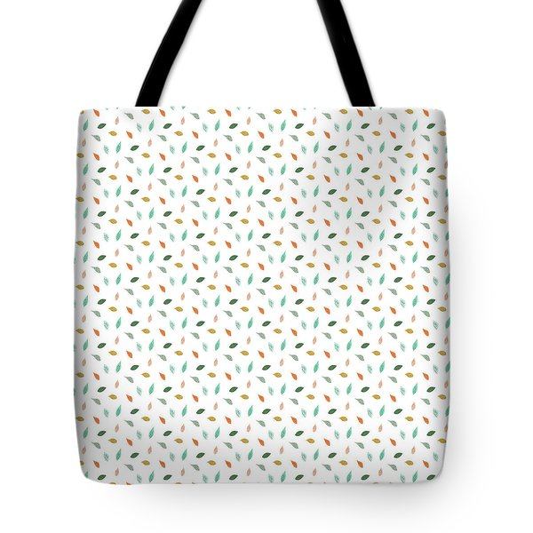 Tote Bag featuring the drawing Dainty Leaves by Jocelyn Friis
