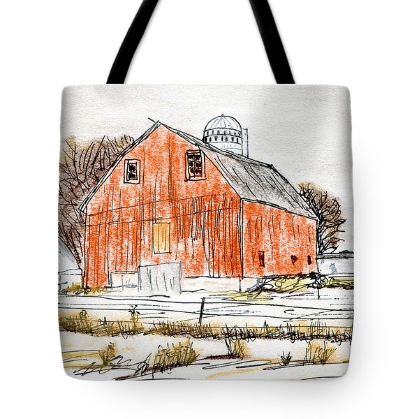 Dairy Barn Tote Bag by R Kyllo